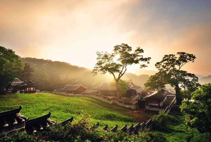 Sonnenaufgang am Provinzpark Namhansanseong