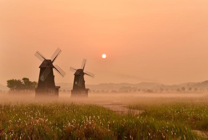 Sunrise at Sorae Ecology Park