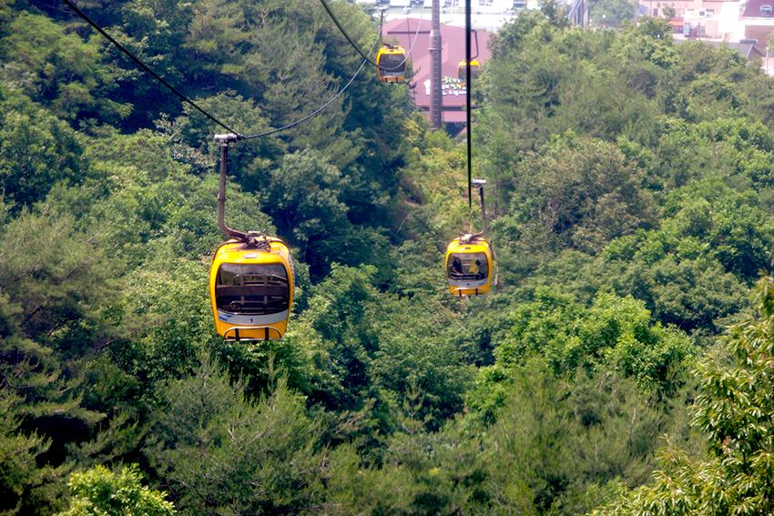 Teleférico del monte Palgongsan.