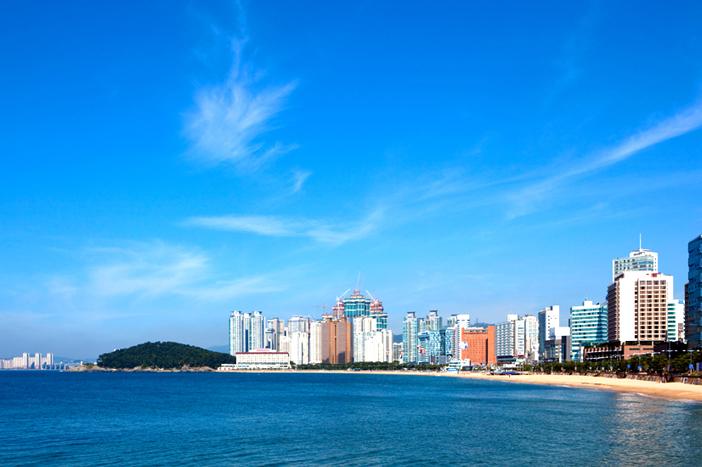 Landscape of Haeundae (top) / Marine City (left) / View of Dongbaekseom Island (right)