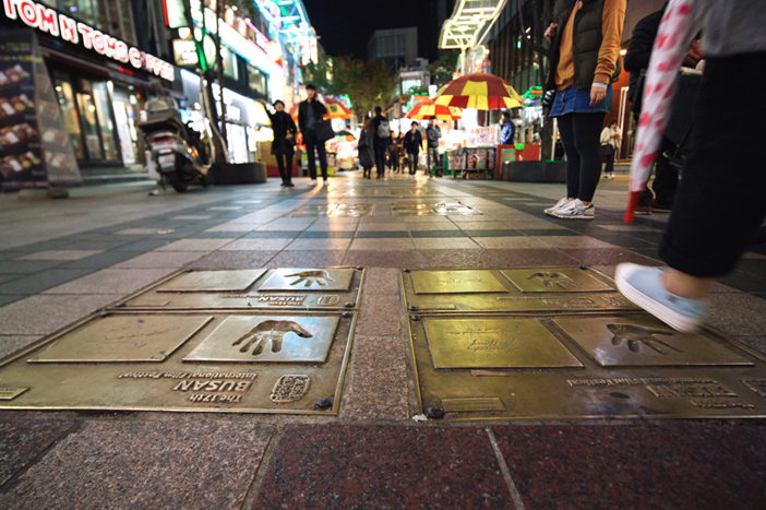 Celebrity handprints from around the world on streets of BIFF Square