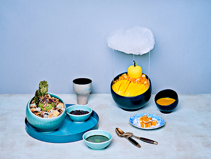 Retro Mugwort Bingsu & Cloud Mango Bingsu (Credit: Grand Intercontinental Seoul Parnas)