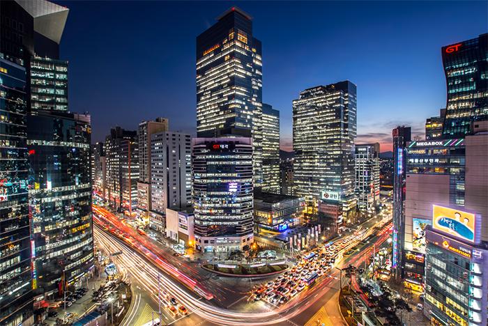 Gangnam bei Nacht