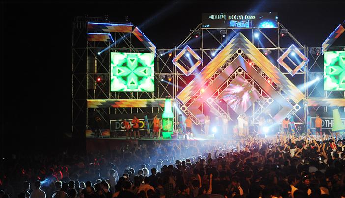 Nächtliche Veranstaltung beim Festival (Quelle: Boryeong Mud Festival Organization Committee)