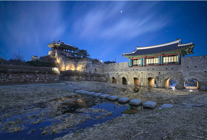 Nightscape of Suwon Hwaseong Fortress