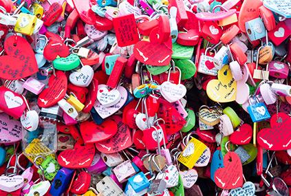 Candados de amor en Namsan Seoul Tower