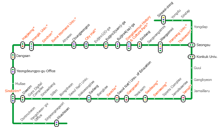 Seoul Subway Map 2015.Official Site Of Korea Tourism Org Korea Subway Tour Line 2