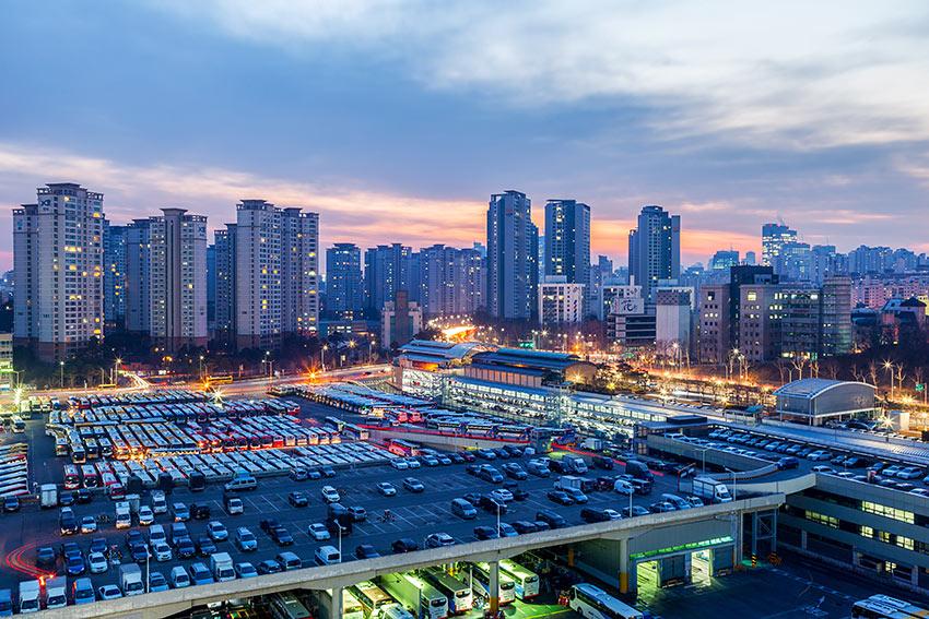 Terminal de Autobuses Expresos de Seúl.