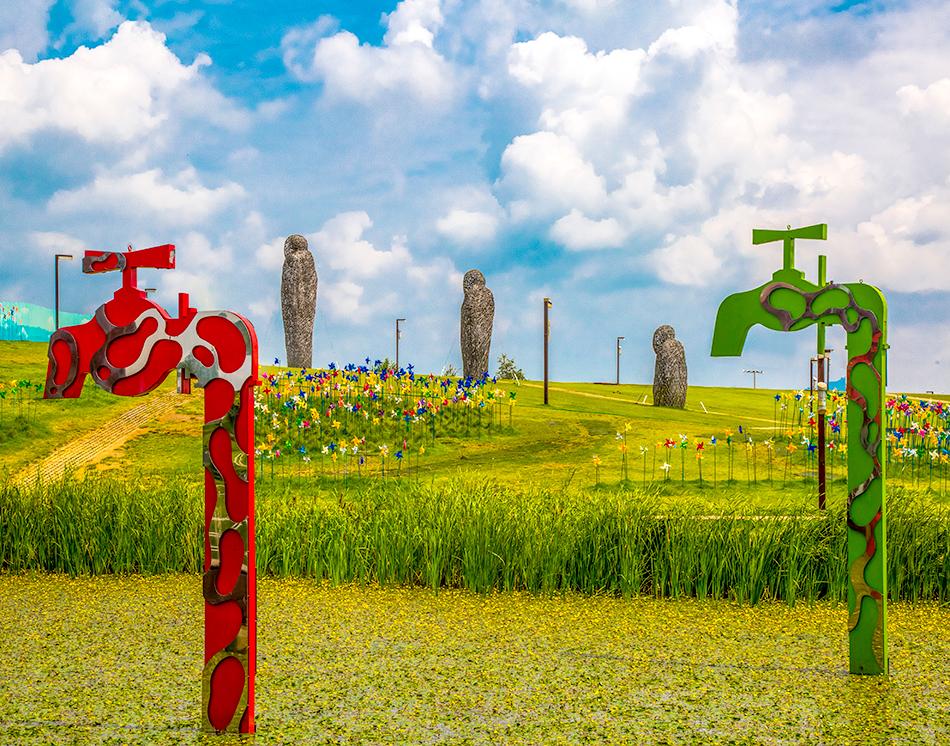 Terrain de camping, parc Noeul (aut: ville de Séoul)