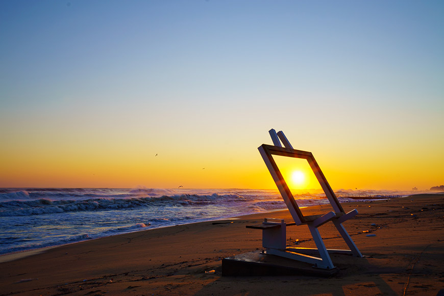 Фестиваль встречи рассвета на пляже Кёнпхо
