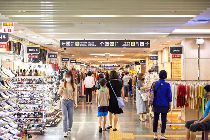 ソウルの地下ショッピングモール