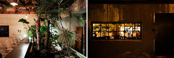 Vue de jour et de nuit de la Brasserie des saules