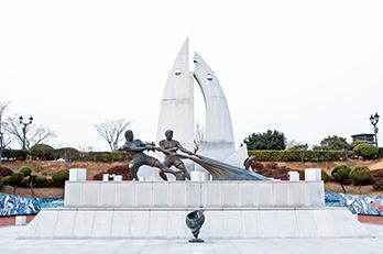 Photo: Dolsan Park Dolsandaegyo Bridge Monument for the Park Construction