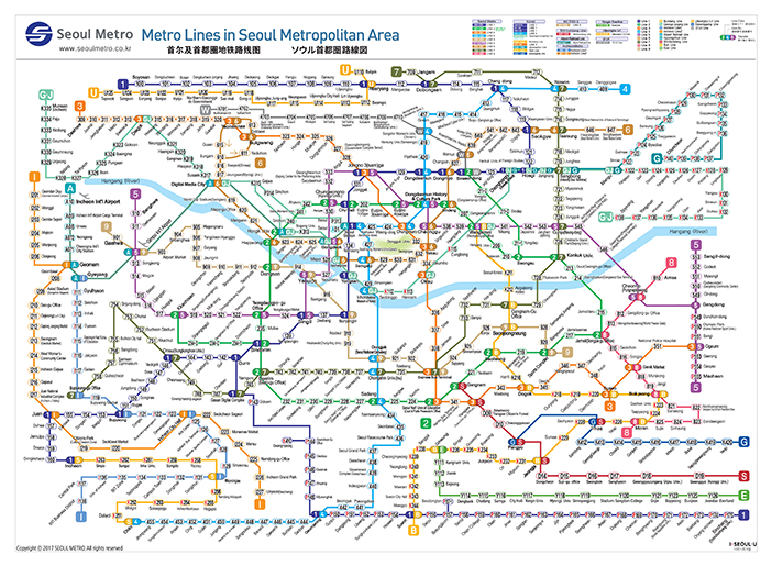 Map of Seoul Metro, seoul metro map
