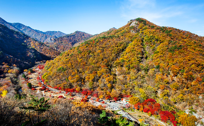 Autumn scenes at Naejangsan Mountain