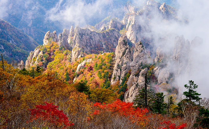 Fall at Seoraksan Mountain