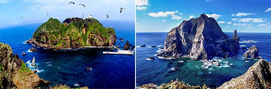 圖片)東島全景(左圖)/ 西島(右圖)