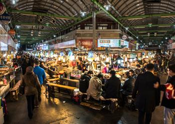 Intérieur du marché Gwangjang