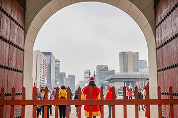 景福宮内部から見た風景