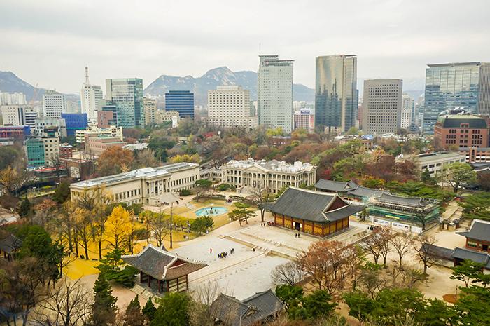 貞洞展望台から見たソウルの風景