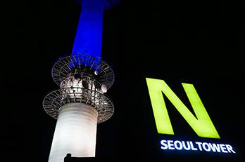 Nソウルタワーから見るソウルの夜景