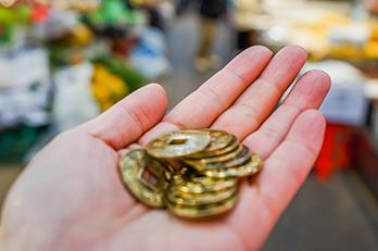 通仁市場でのみ使えるコイン