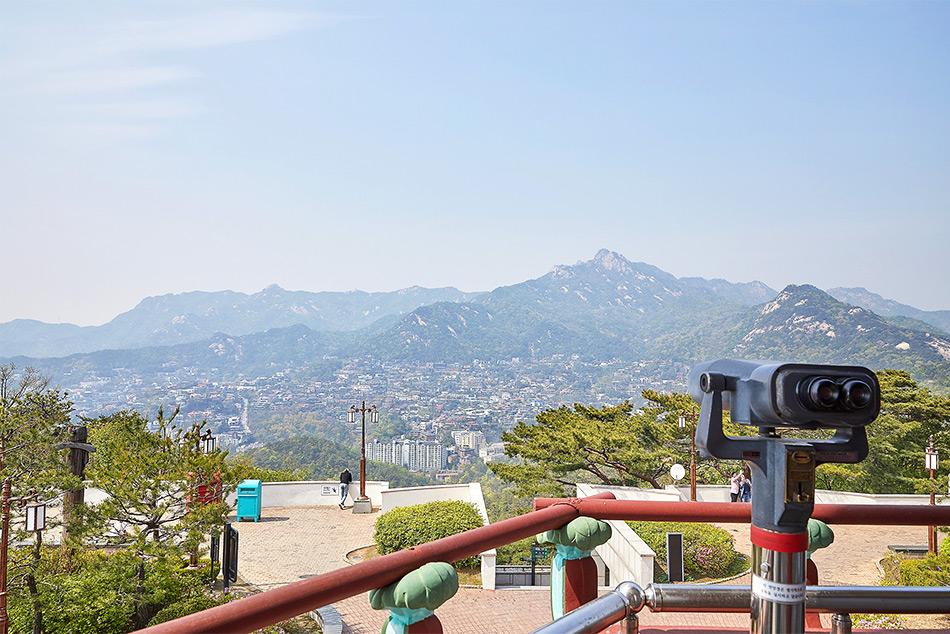 北岳八角亭展望台からの風景