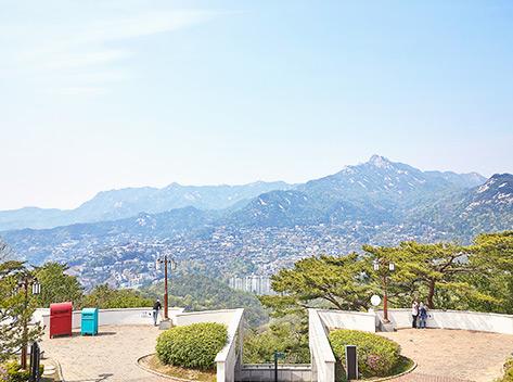 八角亭からの風景