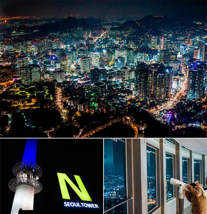圖片) 在N 首爾塔上眺望首爾夜景