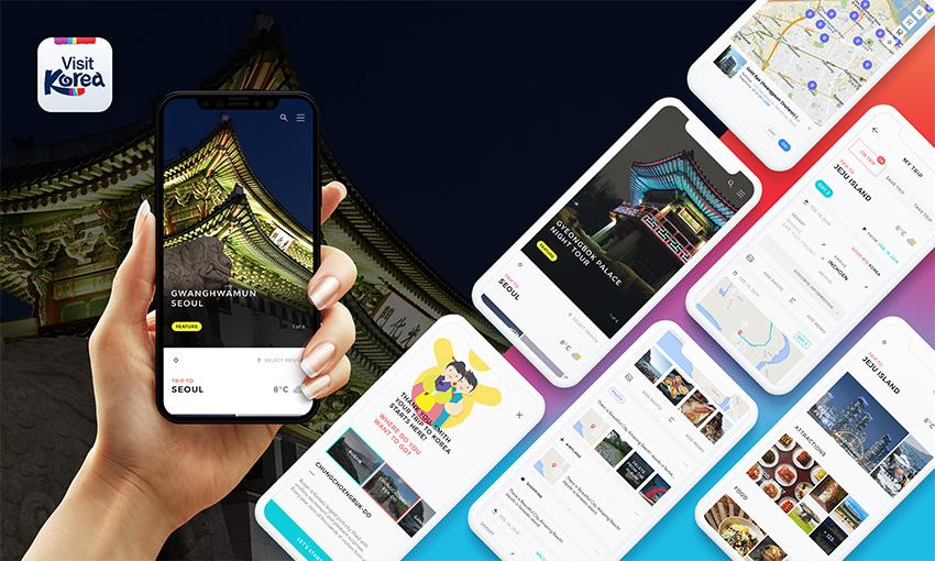 Мобильное приложение VISITKOREA