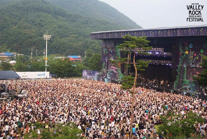 Vue d'un concert lors du festival Jisan (aut : CJ E&M)