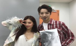 <strong>Hyuna Poses With Same Agency′s Wanna One Lai Kuan Lin</strong>