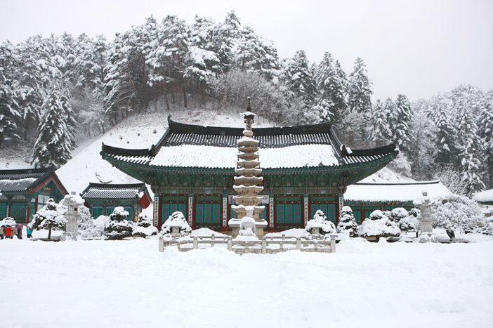 Winter scenes at Woljeongsa Temple