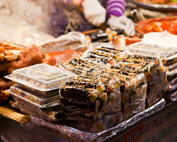 Street food at Gwangjang Market