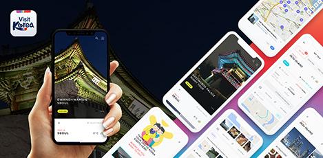 韓国の旅情報が凝縮!<br>あなたのスマートトラベルマネージャー、<br>VISIT KOREAアプリ。