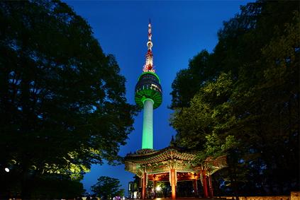 Символ Сеула – Сеульская башня на горе Намсан