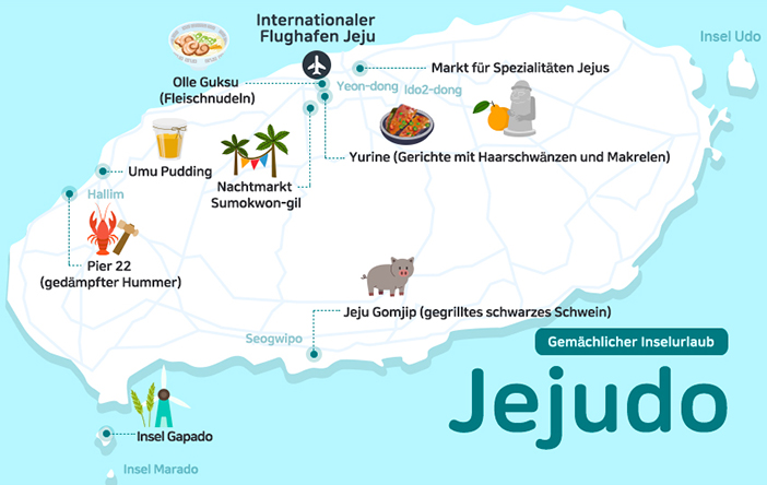 Karte von Jejudo