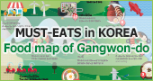 Food map of Gangwon-do