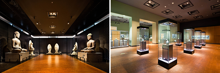 Exterior and interior views of The National Museum of Korea (Credit (bottom): The National Museum of Korea)