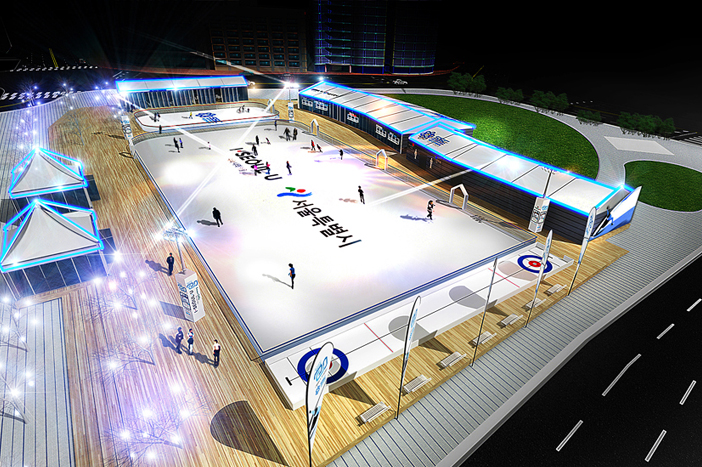 2019 design of Seoul Plaza Skating Rink (Credit: Seoul Metropolitan Government)