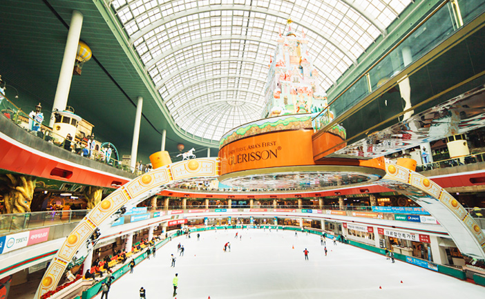 Scenery of Lotte World Indoor Ice Skating Rink