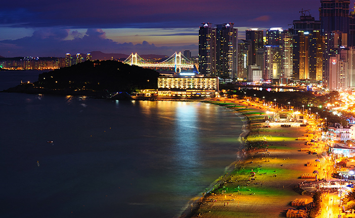Nightscape of Haeundae Beach
