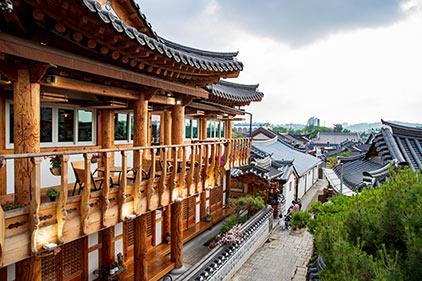 Деревня традиционных корейских домов ханок в Чончжу