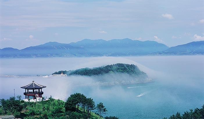 梧桐島の全景