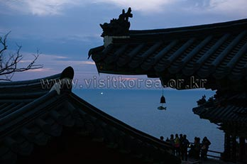 Photo: Sunrise at Hyangiram Hermitage