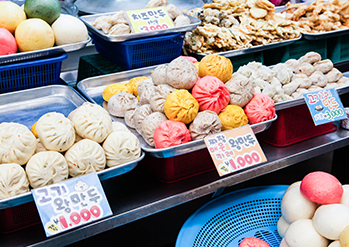 Photo: Dumplings at Incheon Sinpo International Market