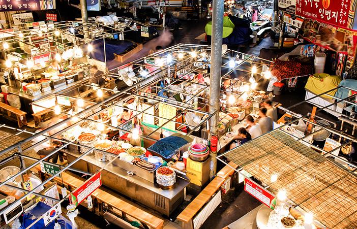 Scenery of Gwangjang Market