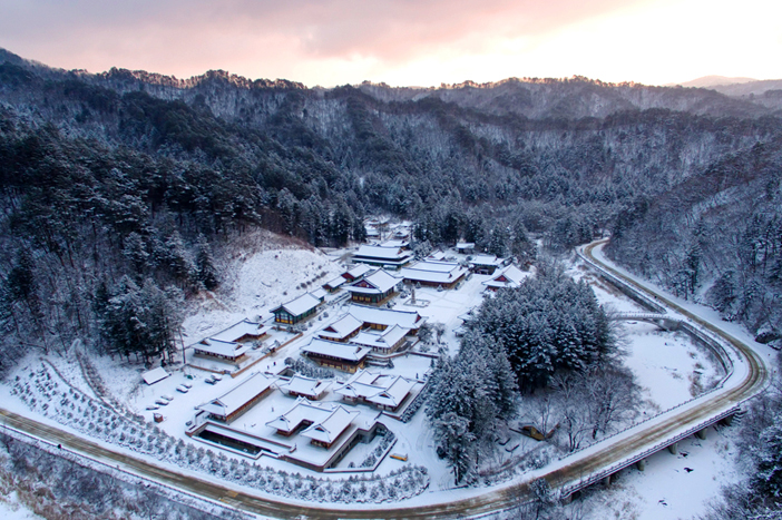 Winter at Woljeongsa Temple