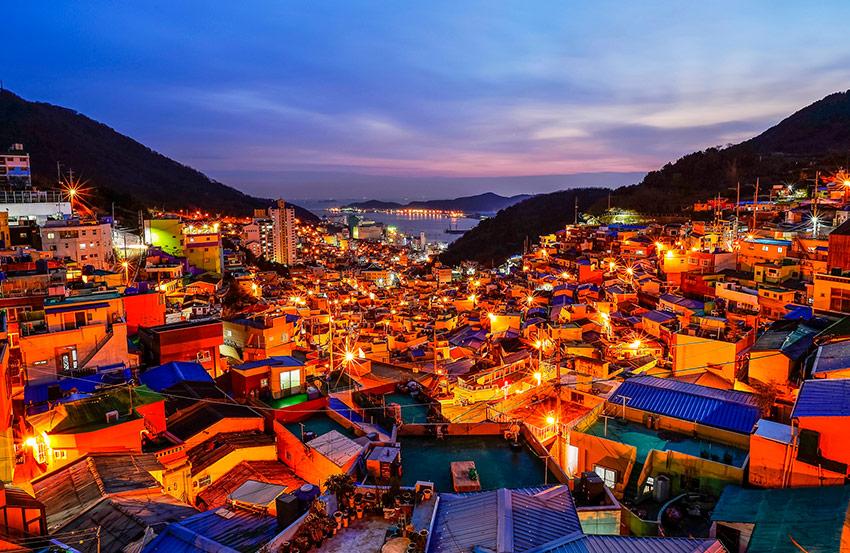 甘川文化村夜景