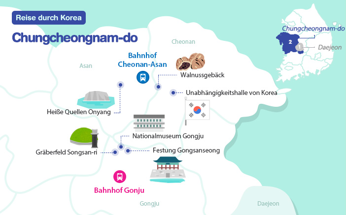 Karte von Chungcheongnam-do map
